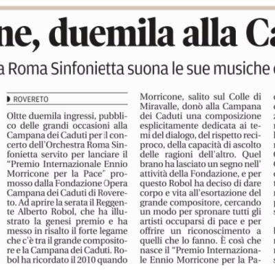 Il Trentino - Recensione Premio Morricone
